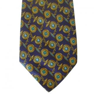 Louis Feraud Cufflinks Motif Silk Neck  Tie