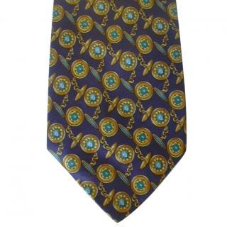Louis Feraud Cufflinks Motif Silk Neck  Tie