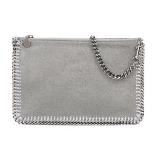 Stella McCartney Light Grey Shaggy Deer Clutch Shoulder Bag