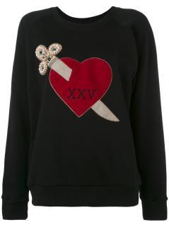 Gucci Black Heart Dagger Embroidered Sweatshirt