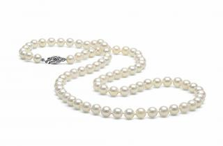 Japanese Akoya White Cultured Pearl Choker 14ct Clasp
