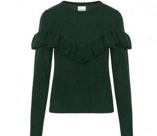 Anine Bing Ruffle Front Cashmere Jumper