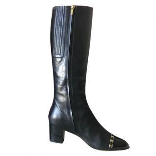 Salvatore Ferragamo Chain Trimmed Boots
