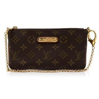 Louis Vuitton Monogram Canvas Chain Zip Purse