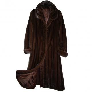 Saga Superior Mink Fur Long Coat