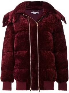 Stella McCartney Oversized Velvet Puffer Coat