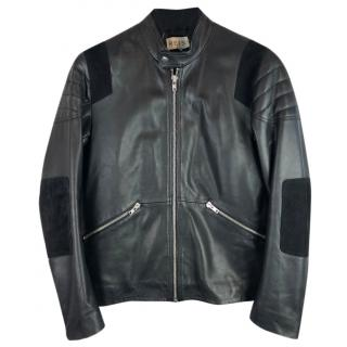 Reiss Vivaldi Leather Biker Jacket