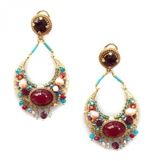 Satallite Paris Gabrielle Bordeaux Pearl Earrings