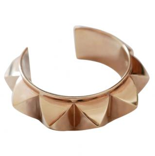 Hermes Rigid Collier De Chien Gold Cuff