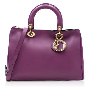 Christian Dior Purple Leather Diorissimo Bag