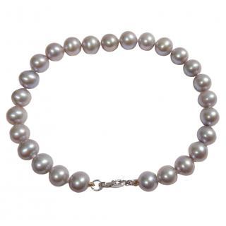 Bespoke Grey Freshwater Pearl Bracelet 9ct Gold Clasp 7mm