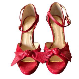 Charlotte Olympia Red Platform Sandals