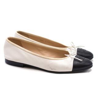 Chanel Black & White Ballet Pumps