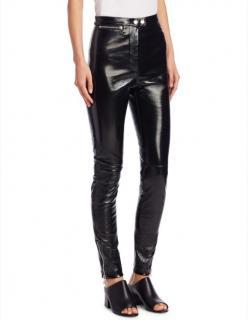 3.1 Phillip Lim Stretch Patent Leather Leggings Trousers Black US8/UK1