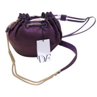 Diane Von Furstenburg Small Purple Satin  Bag