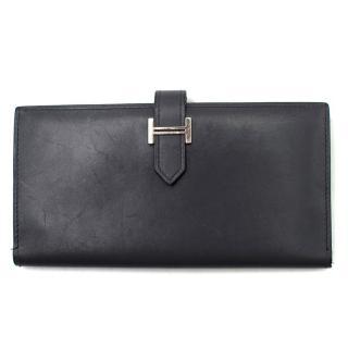 Hermes Black Tri-fold Bearn Wallet