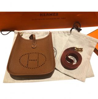 Hermes mini Evelyne 16 in Taurillon Cl�mence Leather