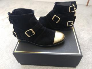 Balmain x H&M gold tipped boots 37 / 4UK