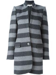 Stella McCartney Bryce Coat in Grey Stripe