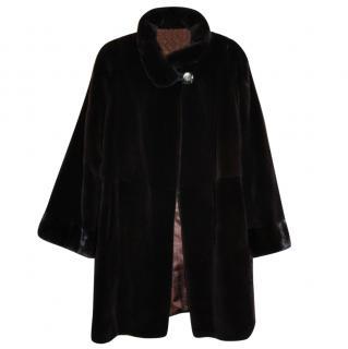 Saga Sheared Mink Stroller Coat