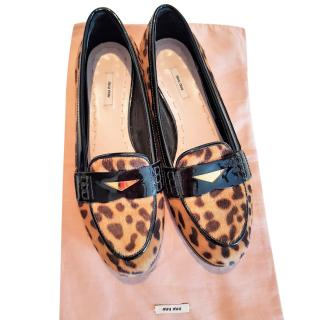 Miu Miu Leopard Print Pumps