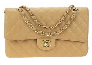 Chanel Caviar Leather Medium Double Flap Bag