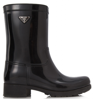 Prada Logo Sport Rubber Rain Boots