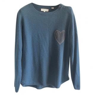 Chinti & Parker 100% Cashmere Green Jumper