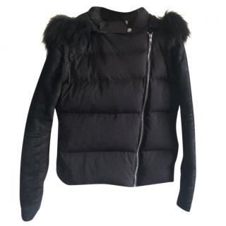 Maje Down Jacket with Racoon Fur.