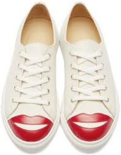 Charlotte Olympia lip toe sneakers