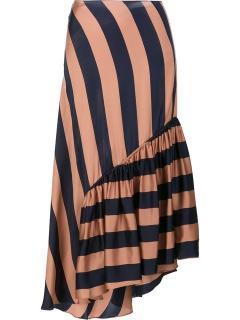 Stella McCartney Fluid Striped Skirt