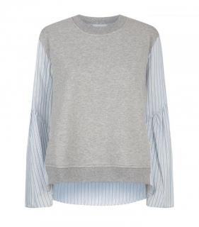 3.1 PHILLIP LIM French Terry Combo Top Size S