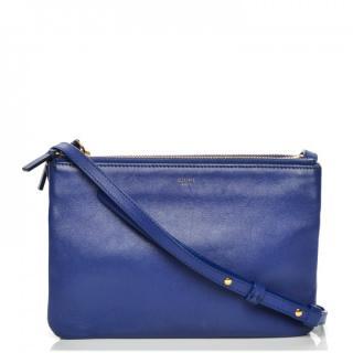 Celine small blue Trio cross body bag
