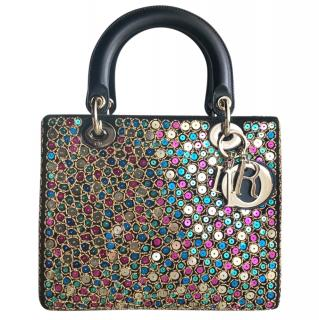 Dior Limited Edition Lady Dior Sequin bag
