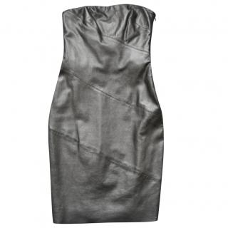 Ralph Lauren Black Label leather dress