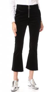 Frame Velvet O Ring Zip Flare Pants