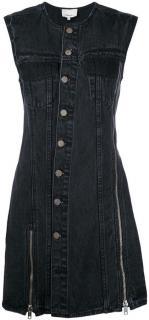 3.1 Phillip Lim Black Asymmetric Denim Dress