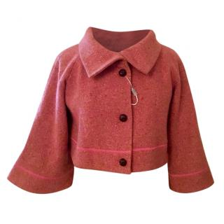 Missoni pink crop tweed jacket, NEW with tags size 42