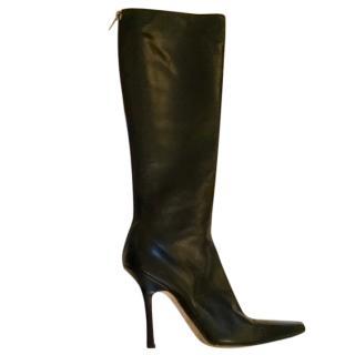 Jimmy Choo black knee high boots, 36.5