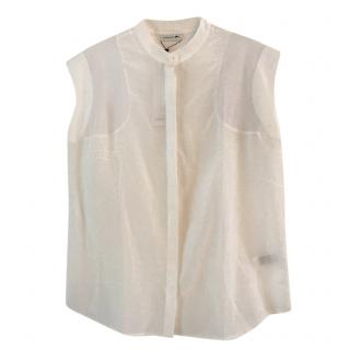 Lacoste cotton & silk top