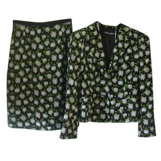 Dolce & Gabbana Floral Silk Suit