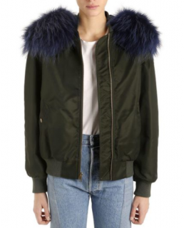 Mr & Mrs Italy Khaki Fur Lined Bomber Jacket