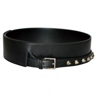 Saint Laurent studded leather waist belt in black