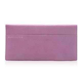 Smythson Lilac Leather Travel Wallet & Passport Holder
