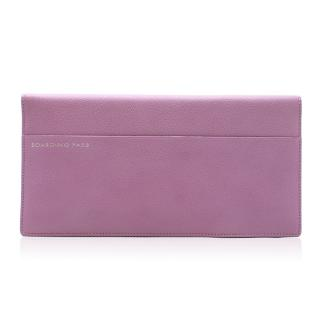 Smythson Lilac Leather Travel Wallet & Passport Holder
