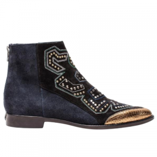 Zadig & Voltaire Suede Studded Ankle Boots