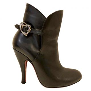 Vivienne Westwood heart buckle ankle boots