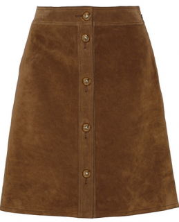 Gucci Suede A-Line Skirt