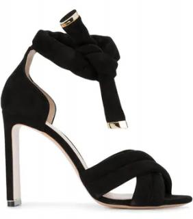 Nicholas Kirkwood Black Ziggy 105 Suede sandals