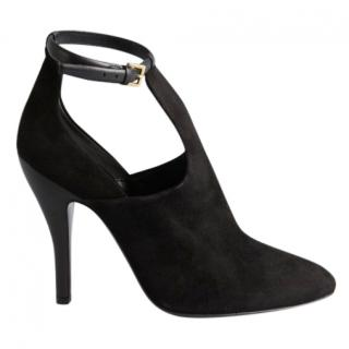 Gucci Suede Cut-Out Booties